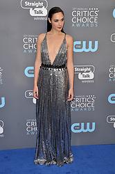 Gal Gadot at The 23rd Annual Critics' Choice Awards held at the Barker Hangar on January 11, 2018 in Santa Monica, CA, USA (Photo by Sthanlee B. Mirador/Sipa USA)