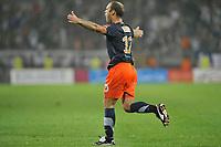 FOOTBALL - FRENCH CHAMPIONSHIP 2011/2012 - L1 - MONTPELLIER HERAULT SC v AJ AUXERRE - 06/08/2011 - PHOTO SYLVAIN THOMAS / DPPI - JOY GEOFFREY DERNIS (MON) AFTER HIS GOAL