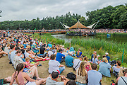 Katherin sings on the Waterfront stage in front of a large appreciative crowd - The 2017 Latitude Festival, Henham Park. Suffolk 16 July 2017