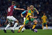 Photo: Ashley Pickering.<br /> Norwich City v West Ham United. Pre Season Friendly. 31/07/2007.<br /> Luke Chadwick of Norwich on the ball