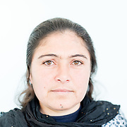 Myan Shamo Hasan a 43 year old Yazidi from Shingal town, northern Iraq.<br /> <br /> This is a series of portraits of Yazidi refugees who were stranded since April 2016 in Greece.  All of them survived the Yazidi Genocide by ISIS in August 2014 and most of them have lost family members.