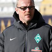 Werder Bremen's coach Thomas Schaaf during their Tuttur.com Cup Final soccer match Werder Bremen between Werder Bremen v Vfl Wolfsburg at Mardan stadium in Antalya Turkey on 09 Wednesday January, 2013. Photo by Aykut AKICI/TURKPIX