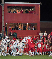 Laconia Sachems versus Plymouth Bobcats under the lights October 8, 2010.