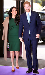 The Duke and Duchess of Sussex arrive for the annual WellChild Awards at the Royal Lancaster Hotel, London.