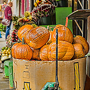 It's October in New York.  This is as close to fresh picked as you get in the city.  This market had lots of fresh produce as well as fresh flowers.