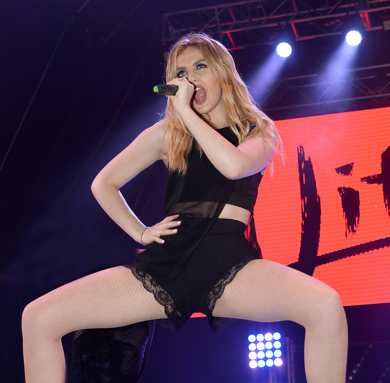 Blackpool Illumination Switch on <br /> Little Mix <br /> Perrie Edwards<br /> Pix Dave Nelson