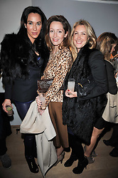 Left to right, ALEXANDRA MEYERS, ZOE COUPER and GEORGINA COHEN at the launch party for Club Monaco at Browns, 32 South Molton Street, London on 16th February 2011.