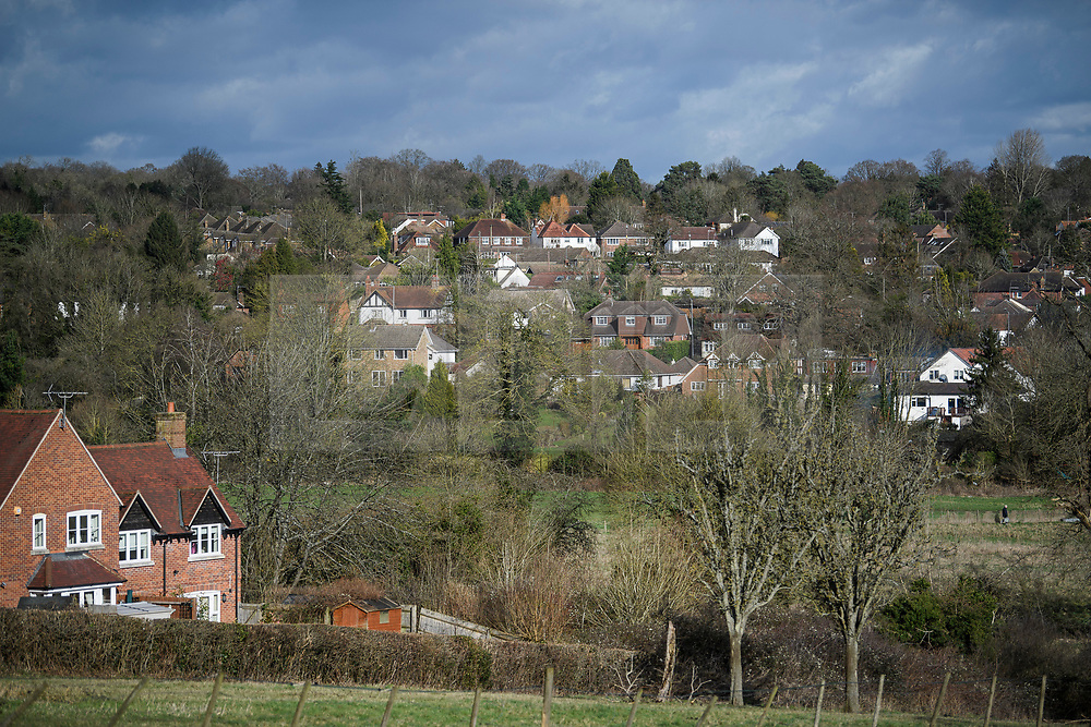 © Licensed to London News Pictures. 11/02/2020. Chalfont St Giles, UK. An area of land in Chalfont St Giles, Bucks, that the planned HS2 (High Speed 2) railway will run through after government announced plans to push ahead with the project. Photo credit: Ben Cawthra/LNP
