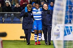 (L-R) JEnny Venema of PEC Zwolle, Ruben Ligeon of PEC Zwolle, caretaker Erwin Vloedgraven of PEC Zwolle during the Dutch Eredivisie match between PEC Zwolle and Vitesse Arnhem at the MAC3Park stadium on January 27, 2018 in Zwolle, The Netherlands