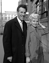 File photo dated 23/03/60 of Sir Bruce Forsyth with his former wife Penny as he arrives at the private wing of University College Hospital in London, as the veteran entertainer has died aged 89.