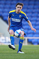 AFC Wimbledon midfielder George Dobson (24) controlling the ball during the EFL Sky Bet League 1 match between AFC Wimbledon and Hull City at Plough Lane, London, United Kingdom on 27 February 2021.