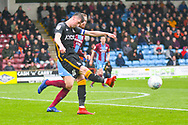 Paudie O'Connor of Bradford City (5) clears the ball during the EFL Sky Bet League 1 match between Scunthorpe United and Bradford City at Glanford Park, Scunthorpe, England on 27 April 2019.