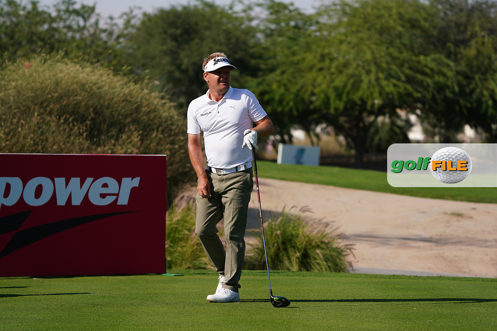 Soren Kjeldsen (DEN) on the 16th during Round 1 of the Commercial Bank Qatar Masters 2020 at the Education City Golf Club, Doha, Qatar . 05/03/2020<br /> Picture: Golffile   Thos Caffrey<br /> <br /> <br /> All photo usage must carry mandatory copyright credit (© Golffile   Thos Caffrey)