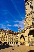 Munsterplatz (Cathedral Square) outside the Munster (Cathedralof Bern), Bern, Canton Bern, Switzerland