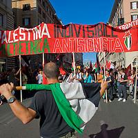 Manifestazione nazionale a sostegno del popolo palestinese