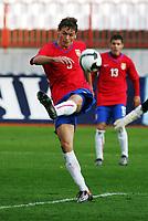 15.11.2009 Novi Sad(Serbia)<br /> Serbia-Norway football Under 21<br /> Norge - Serbia U21<br /> <br /> Uefa Euro qualify<br /> Nemanja Matic Serbia .Serbia won Norway 3:2.