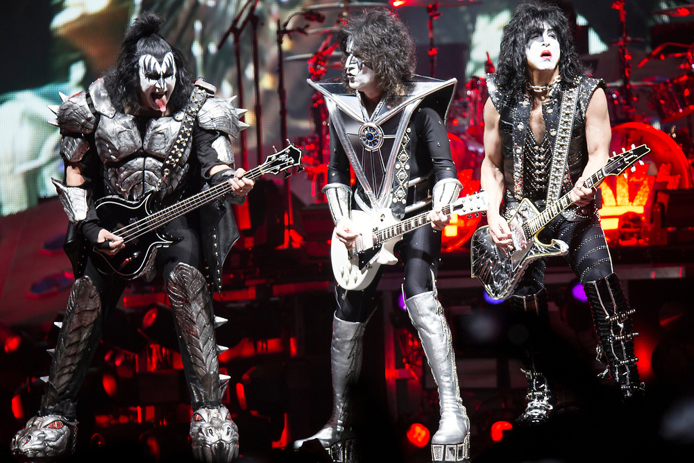 """KISS bring their """"End of the Road"""" Tour to the Fiserv Forum in Milwaukee, WI on March 1, 2019."""
