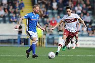 Bradford City midfielder Alex Gilliead (17), on loan from Newcastle United,   during the EFL Sky Bet League 1 match between Rochdale and Bradford City at Spotland, Rochdale, England on 21 April 2018. Picture by Mark Pollitt.