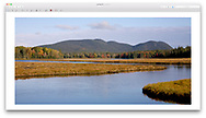 Marshal Brook - a wetland, marsh and winding river at Acadia National Park, Maine, USA