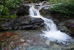St. Mary Falls, Glacier National Park, Montana, US