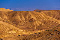 Rugged landscape of the Metzoke Dragot in the Judean Desert, near the Dead Sea, Israel.