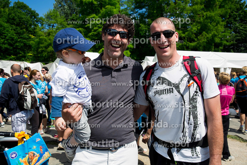 Robert Ciglenecki and Bostjan Groznik during 5km and 10km running race 9. DM Tek za zenske on May 31, 2014 in Tivoli, Ljubljana, Slovenia. Photo by Vid Ponikvar / Sportida