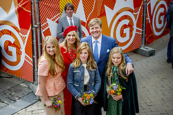 Queen Maxima and King Willem Alexander with Princess Amalia , Princess Ariane and Princess Alexia attending King's Day Celebrations in Groningen, Netherlands, on April 27, 2018. Photo by Robin Utrecht/ABACAPRESS.COM