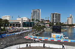 March 11, 2017 - St. Petersburg, Florida, U.S. - DIRK SHADD   |   Times  .The waterfront and city of St. Petersburg overlooking turn 10 during the IndyCar practice on day two of the Firestone Grand Prix of St. Petersburg Saturday (03/11/17) (Credit Image: © Dirk Shadd/Tampa Bay Times via ZUMA Wire)