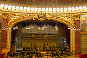 Interior of the Romanian Athenaeum,  a concert hall in the center of Bucharest, Romania