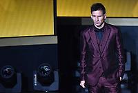 Zuerich, 12.1.2015, FIFA Ballon d'Or 2014, Lionel Messi am FIFA Ballon d`Or 2014. (Melanie Duchene/EQ Images)