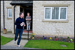 Leader of the Conservative Party David Cameron leafleting in Witney, Oxfordshire during his General Election campaign, Sunday April 11, 2010. Photo By Andrew Parsons / i-Images.