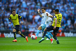Curtis Nelson of Oxford United intercepts Ruben Lameiras of Coventry City - Photo mandatory by-line: Jason Brown/JMP -  02/04//2017 - SPORT - Football - London - Wembley Stadium - Coventry City v Oxford United - Checkatrade Trophy Final