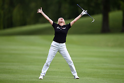 Denise van Outen during the ISPS Handa Celebrity Golf Classic at The Belfry in Sutton Coldfield.