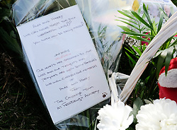 © Licensed to London News Pictures. <br /> 28/03/20167. <br /> Saltburn by the Sea, UK.  <br /> <br /> Floral tributes are left at the bottom of steps leading to Huntcliff in Saltburn by the Sea where friends HARRY WATSON and ALEX YEOMAN, both 17, died.<br /> The two teenage boys were found dead at the bottom of the cliffs last Friday.<br /> They are understood to be childhood friends and attended Freebrough College in Middlesbrough.<br /> Teesside Coroners Service have confirmed an inquest into the deaths would be opened for the two friends.<br /> <br /> <br /> Photo credit: Ian Forsyth/LNP