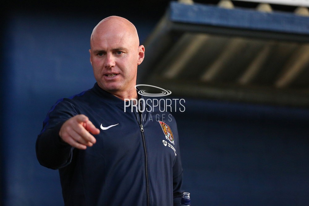 Northampton Town manager Robert Page before the EFL Sky Bet League 1 match between Oldham Athletic and Northampton Town at Boundary Park, Oldham, England on 16 August 2016. Photo by Simon Brady.