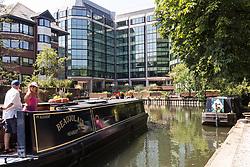 New developments along the River Thames in Reading, Berkshire UK 2014