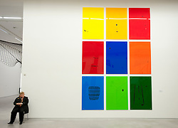 Acrylic art installation called gas_minimals by Sybille Hotz at Berlinische Galerie modern art museum in  Berlin Germany
