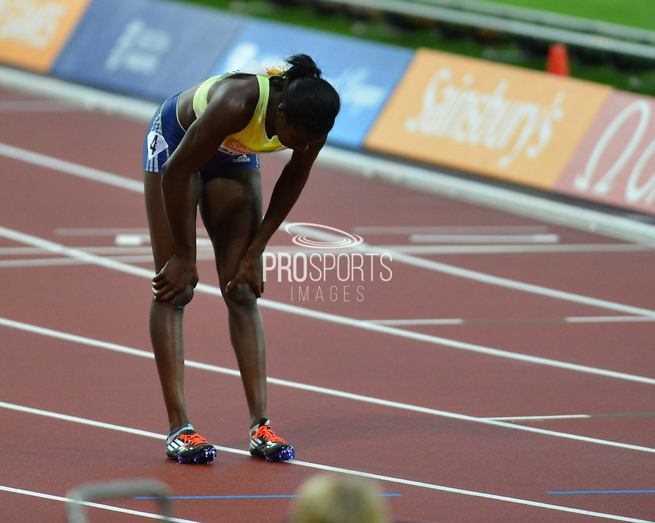 Great Britain's Christine Ohuruogu after the womens 400m at the Sainsbury's Anniversary Games at the Queen Elizabeth II Olympic Park, London, United Kingdom on 24 July 2015. Photo by Mark Davies.