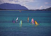 Windsurfing, Kailua, Hawaii<br />