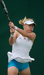 24.06.2011, Wimbledon, London, GBR, Wimbledon Tennis Championships, im Bild Elena Baltacha (GBR) in action during the Mixed Doubles 1st Round match on day five of the Wimbledon Lawn Tennis Championships at the All England Lawn Tennis and Croquet Club, EXPA Pictures © 2011, PhotoCredit: EXPA/ Propaganda/ *** ATTENTION *** UK OUT!