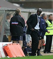 Photo: Lee Earle.<br /> Swindon Town v Port Vale. Coca Cola League 1. 08/10/2005. Swindon manager Iffy Onuora.