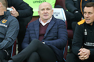 Mike Phelan, the Hull City manager looking on from his seat in the dugout. Premier league match, West Ham Utd v Hull city at the London Stadium, Queen Elizabeth Olympic Park in London on Saturday 17th December 2016.<br /> pic by John Patrick Fletcher, Andrew Orchard sports photography.