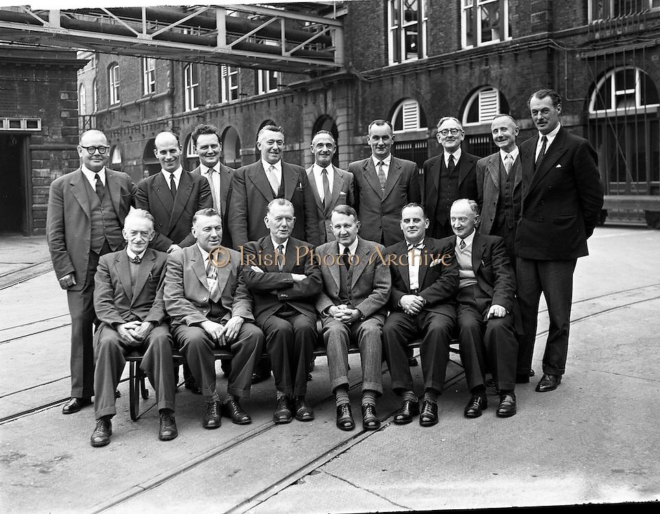 23/10/1958<br /> 10/23/1958<br /> 23 October 1958<br /> Ballina Licensed Vitners visit to Guinness Brewery, St. James' gate Dublin.