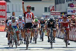 03.07.2011, AUT, 63. OESTERREICH RUNDFAHRT, 1. ETAPPE, DORNBIRN-GOETZIS, im Bild Etappensieger Robert Hunter, (RSA, Team Radioshack) // during the 63rd Tour of Austria, Stage 1, 2011/07/03, EXPA Pictures © 2011, PhotoCredit: EXPA/ S. Zangrando