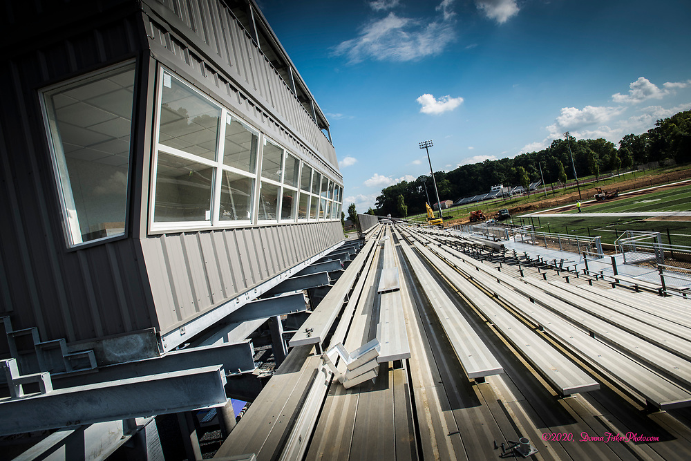 New press box at Whitehall High.  The football field and sports complex at Whitehall High School are undergoing major renovations. The all-new football field is nearing completion along with improvements to the grandstands and a new press box.   Scenes along MacArthur Road in Whitehall Twp., Lehigh County, Pa.. Picture made August 17, 2020.<br />  Donna Fisher Photography, LLC