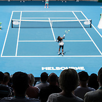 Fans at Rod Laver Arena on day eight of the 2017 Australian Open at Melbourne Park on January 23, 2017 in Melbourne, Australia.<br /> (Ben Solomon/Tennis Australia)