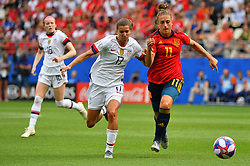 FIFA Women's World Cup Round Of 16 match Spain v USA at Stade Auguste Delaune on June 24, 2019 in Reims, France. USA won 2-1 reaching the quarter-finals. Photo by Christian Liewig/ABACAPRESS.COM