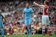 Manchester City's Frank Lampard giving orders to players. Barclays Premier league match, Arsenal v Manchester city at the Emirates Stadium in London on Saturday 13th Sept 2014.<br /> pic by John Patrick Fletcher, Andrew Orchard sports photography.