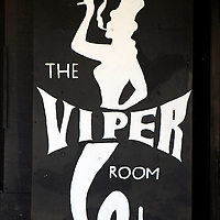 USA, California, Los Angeles. The Viper Room concert venue on Sunset Strip in West Hollywood.
