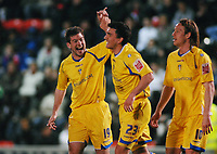 Fotball<br /> England<br /> Foto: Colorsport/Digitalsport<br /> NORWAY ONLY<br /> <br /> Ben Parker (19) celebrates with Robert Snodgrass (Leeds) scorer of his second goal from the penalty spot. Leyton Orient v Leeds United 7/4/2009